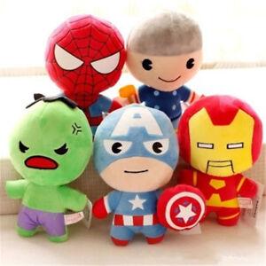 Marvel-Avengers-Superhero-Captain-Ironman-Spiderman-Hulk-Plush-Toys