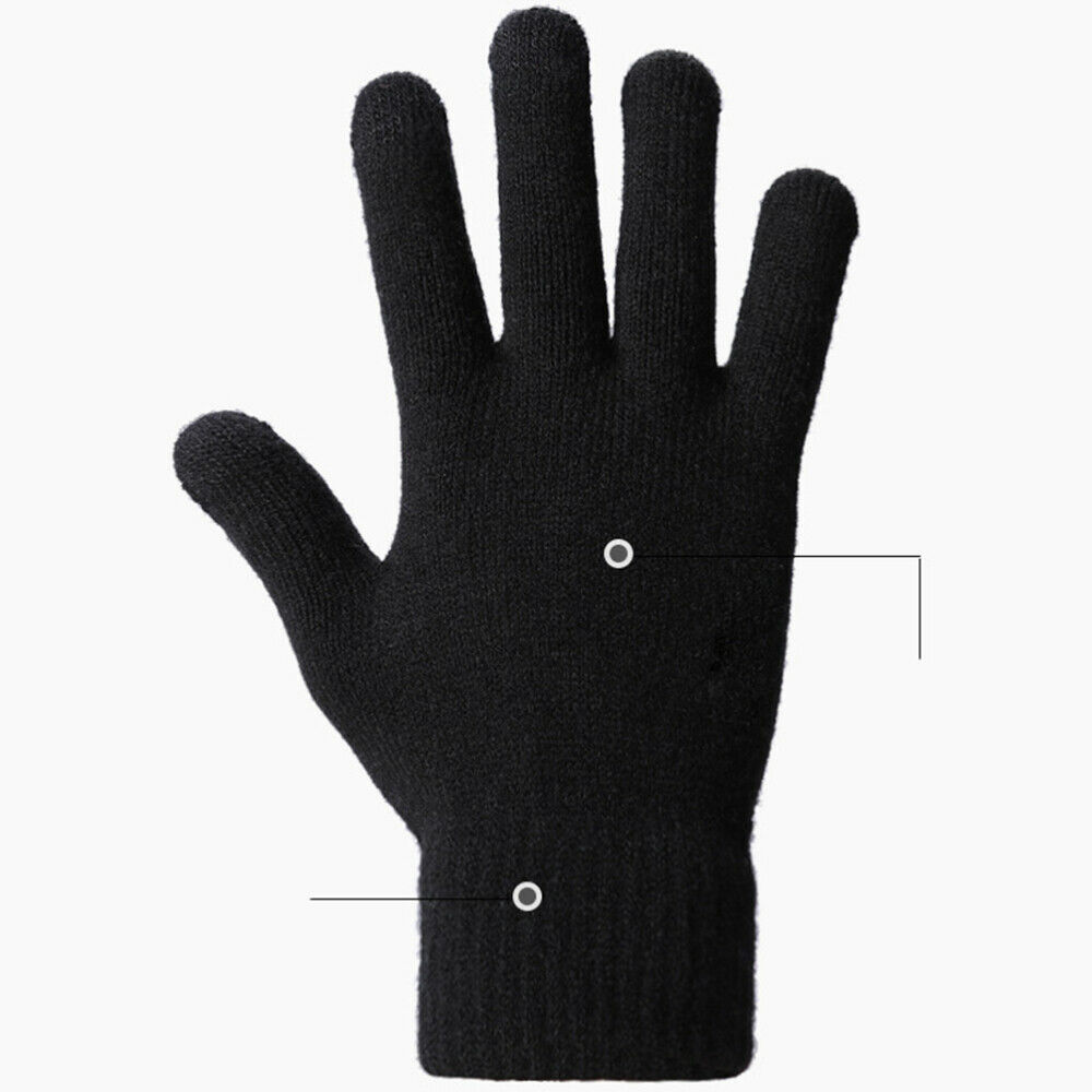 1 Pair Knitted Screen Touch Warm Hand Protector Hand Cover for Skiing
