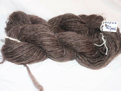 MYRRHWOOD FARM HAND SPUN BLACK ICELANDIC WOOL YARN HSY01-02