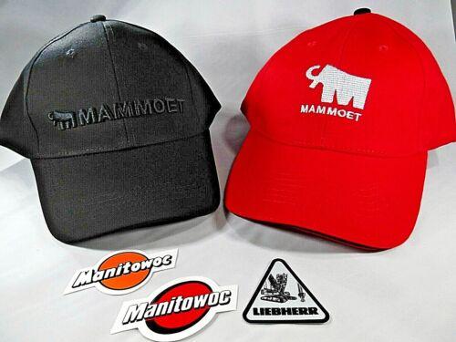 Rare Mammoet Hats and Liebherr//Manty Stickers Oilfield Union Construction Crane
