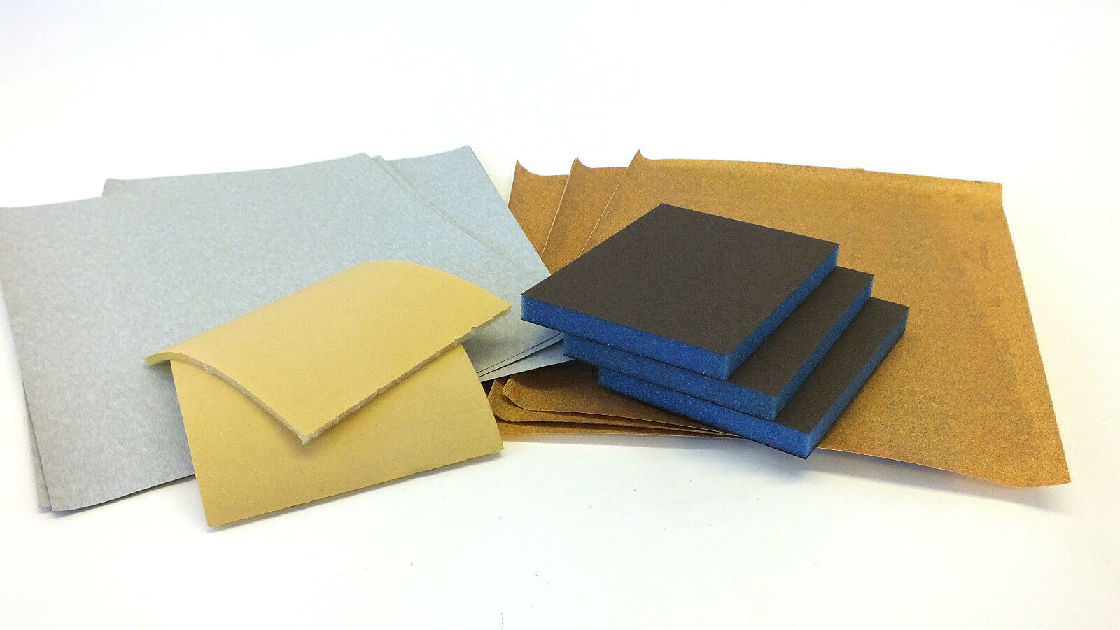 Single or Double sided sanding pads, Trimite & garnet sanding paper - All grits
