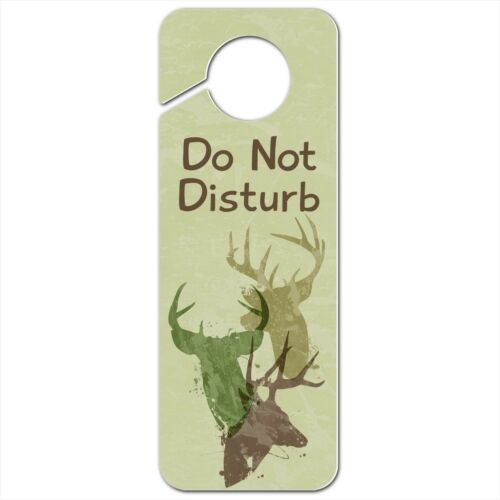 Deer Heads Trio Design Hunting Hunter Camouflage Plastic Door Knob Hanger Sign
