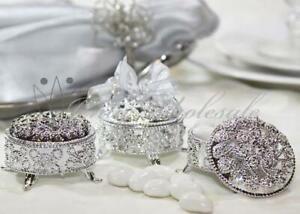 2-5-Inch-Plastic-Trinket-Box-Wedding-Favor-Table-decorations-Silver-12-Pieces