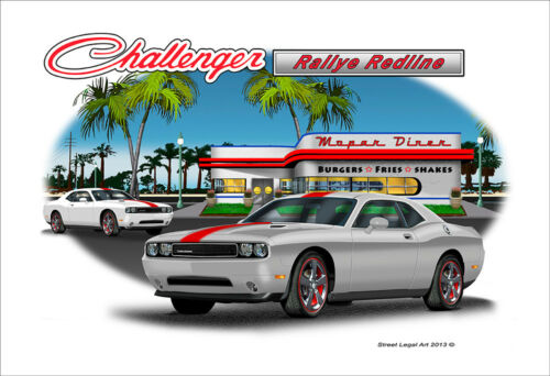2012-13 Challenger Ralley Redline Muscle Car Art Print 3 color