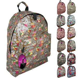 4866b21cc15b Backpack Bag Ladies Girls Print Rucksack Gym School College Campus ...