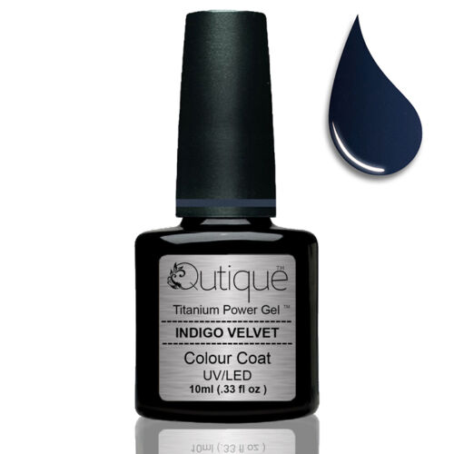 Qutique INDIGO VELVET LEDUV Gel Nail Polish Colour Navy Blue