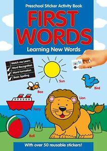 Preescolar-Pegatinas-Libro-De-Actividades-Primero-Words-aprendizaje-NUEVO-201