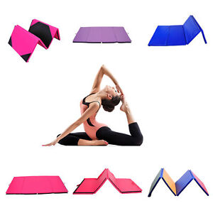 Yoga Gymnastics Mat Folding Exercise Fitness Pilate Crash Mat 6FT 8FT 10FT Gym