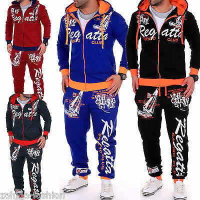 Men's Jog Suit Running Jacket Trousers Pants Trackies Sporthose Fitness Hoodie