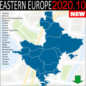 Details about Eastern Europe GPS 2020 10 NAVIGATION MAP FOR GARMIN DEVICES  - LATEST MAP -