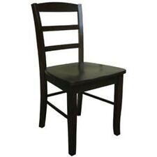 International Concepts Madrid Ladderback Chair Java C15-2P Chairs NEW