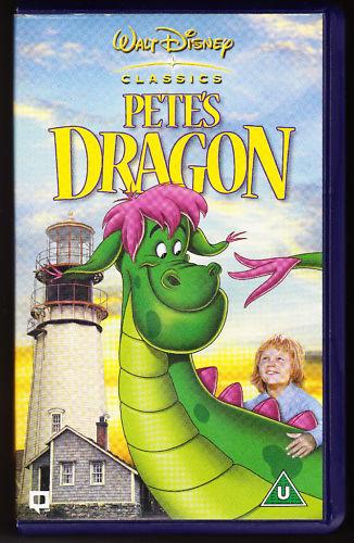 PETE'S DRAGON - DISNEY CLASSICS - HOLOGRAMS - VHS PAL (UK) VIDEO