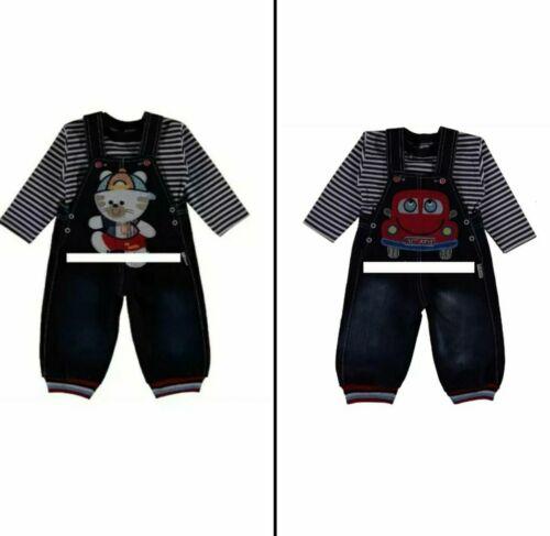 Set Baby Jeans Hose Latzhose mit Langarmshirt Gr 74
