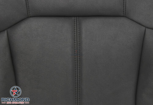 2001 GMC Sierra 2500HD-Driver Side Bottom Replacement Leather Seat Cover DK GRAY