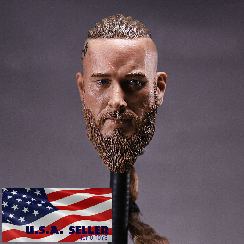 1 6 Viking Viking Viking Male Head Sculpt For 12  Hot Toys TBLeague Worldbox Male Figure ❶USA❶ 9d453b