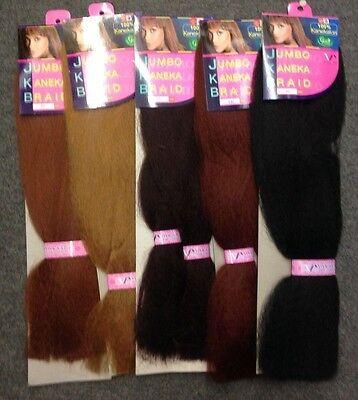 100% KANEKALON JUMBO BRAIDING HAIR BY VIVICA A FOX GREEN PRODUCT