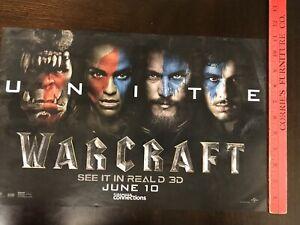 Warcraft 2016 Original Cinemark Promo Movie Poster Hard To Find