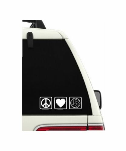 Volleyball Decal for YetiPeace Love VolleyballDecal for CarTeam Gift