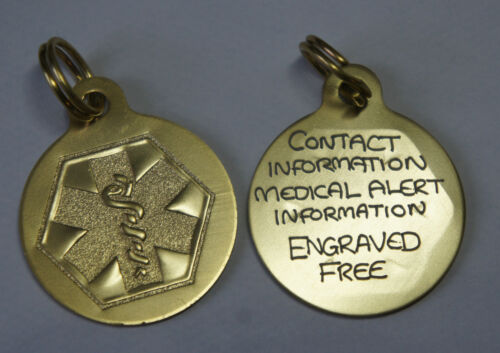 LIGHT WEIGHT PENDANT POSTED SAME DAY MEDICAL ALERT  ENGRAVED TAG