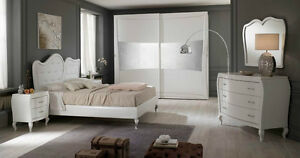 Camera Da Letto Bianco Laccato : Camera da letto laccata bianco opaco armadio scorrevole letto como