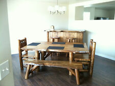 Rustic 4' Log Bench Pine and Cedar Live Edge Furniture Bed bench