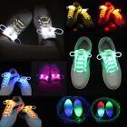 2x Colorful LED Luminous Light Up Glow Nylon Strap Shoe Laces Party Disco Decor