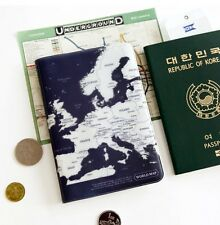 1x world map passport holder cover travel wallet card case vintage world map passport case travel card cash ticket boarding pass cute holder wallet gumiabroncs Choice Image