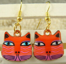 Fashion 1pair Women Lady Elegant cat charm dangle Earrings listed hot sell jk