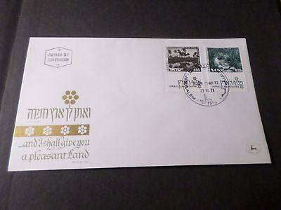 Briefmarken Fdc 1° Tag Landschaften,zebullun,teldan,touristische Israel 1973 Israel
