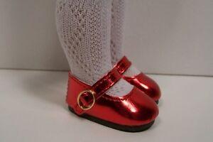 "BLACK T-Strap Cut Out Doll Shoes For 10/"" Ann Estelle Sophie Patsy Debs"