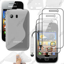 Coque Silicone Transparent Samsung Galaxy Y S5360 + Mini Stylet + 3 Films