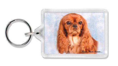 Ruby King Charles 'Love You Mum' Photo Keyring Animal Gift, AD-SKC3lymK
