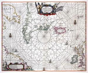 Reproduction carte ancienne - Groenland en 1676