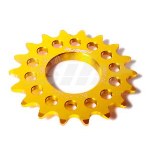 41611 Pignone fisso Fixie  Training Ruder Berna LG150 BC1.37 x24T 16 denti oro