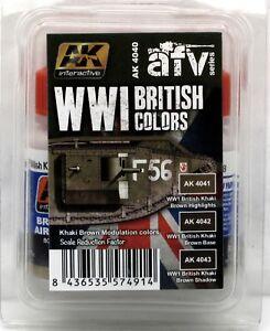 AK-Interactive-AK4040-WWI-British-Colors-AFV-Series-Khaki-Brown-Modulation-Set