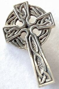 Sterling Silver Celtic Cross Brooch C8ho6