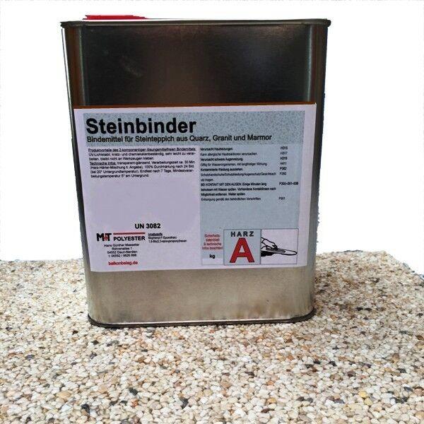 2K 1200 g Steinbinder Bindemittel Steinteppich für Marmor Quarz Glas  KG