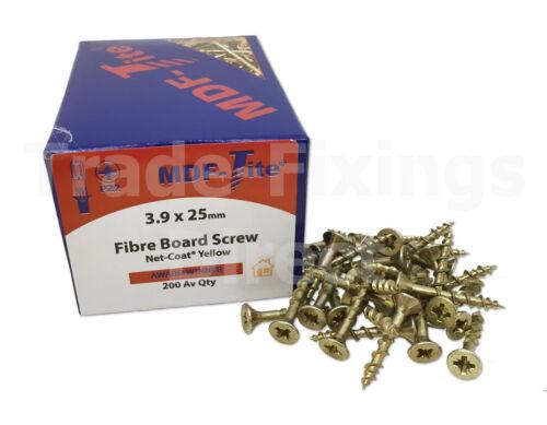 MDF-Tite Woodscrews 3.9 x 40mm TFMT3940 MDF Flooring Screw Trade-Fixings Direct