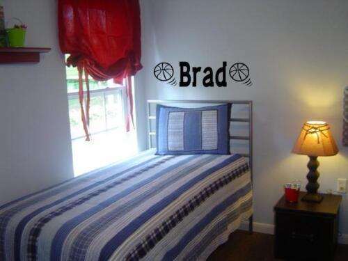 BOYS NAME BASKETBALL Vinyl Sticker Wall Decal Bedroom