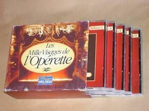 COFFRET 5 CD / LES MILLE VISAGES DE L'OPERETTE / RARE / TRES BON ETAT