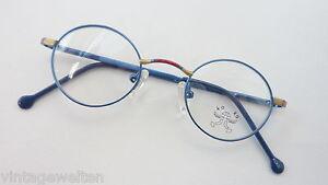 Koko-Kinderbrille-Unisexbrille-blau-rund-Federscharniere-preiswert-guenstig-neu