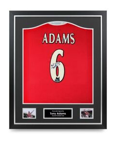 the best attitude 46243 628bf Details about Tony Adams Signed Shirt Arsenal Framed Autograph #6 Jersey  Memorabilia COA