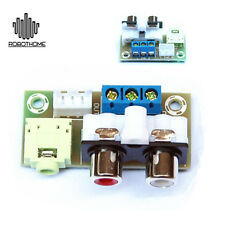 DIY Kit Audio Switch Board RCA 3.5mm Audio Input Block Stable for Amplifier