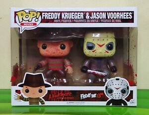 Funko Pop Freddy Krueger vs Jason Voorhees 2-Pack BLOODY Vinyl Figures