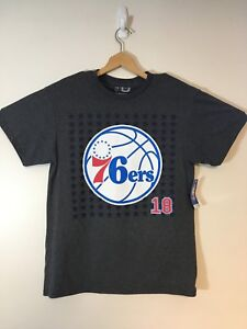 new styles b88a1 fac89 Details about 76ers Sixers Marco Belinelli NBA Official Heather Gray  T-Shirt NBA Size Medium