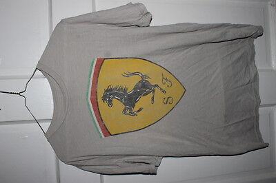 Ferrari owners club Grey mens t shirt Medium TS0211