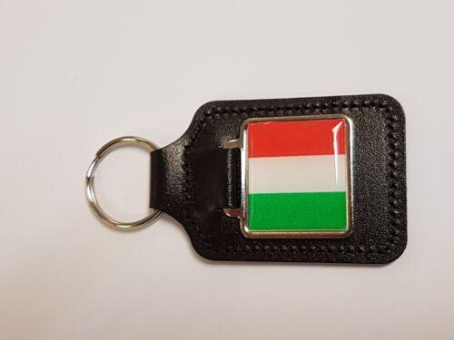 Farben Zur Auswahl Italienische Flagge Quadratisch Schlüsselanhänger aus Leder