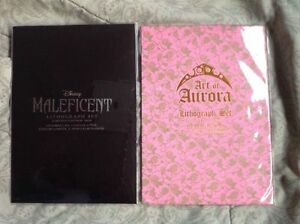 DISNEY ART OF AURORA AND MALEFICENT LIMITED EDITION LITHOGRAPH SET 98