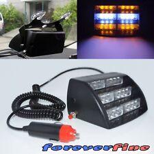 Cigarette Plug Emergency LED 12V Grille Strobe Flashing Light Amber White