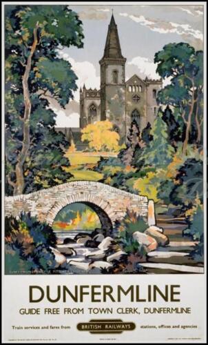 b.r.s Dunfermline Voyage en chemin de fer signe//AD Rétro Plaque Métal